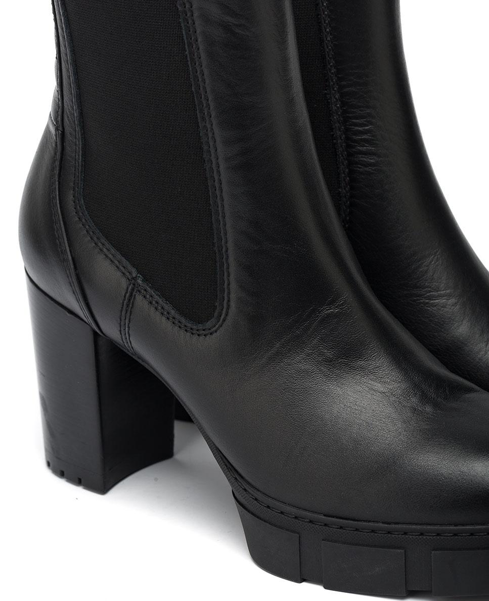 UNISA Heeled Chelsea ankle boots KUBEL_NF black 2