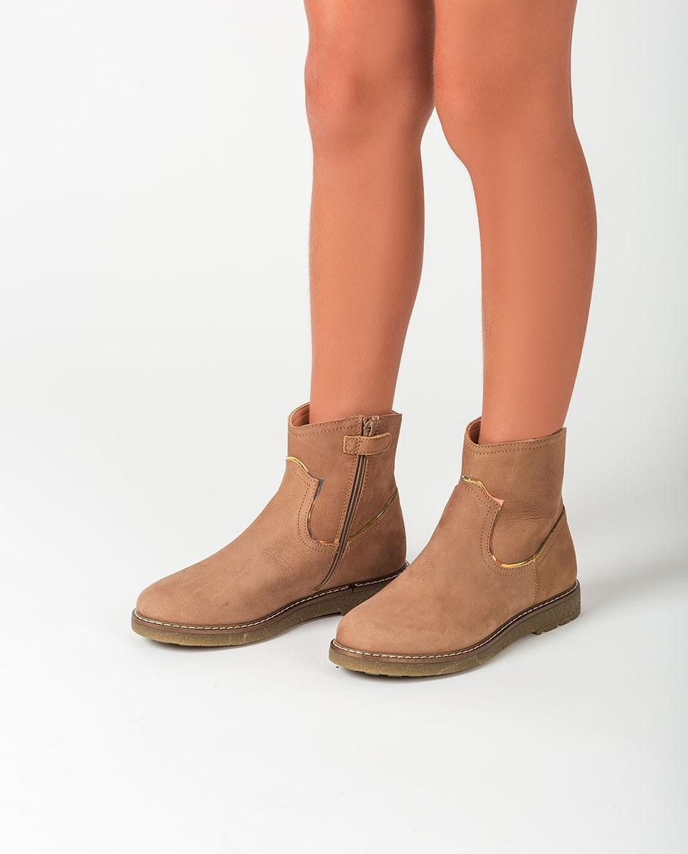 UNISA Little girl's shiny booties NOLAN_F20_BLU ginger 2