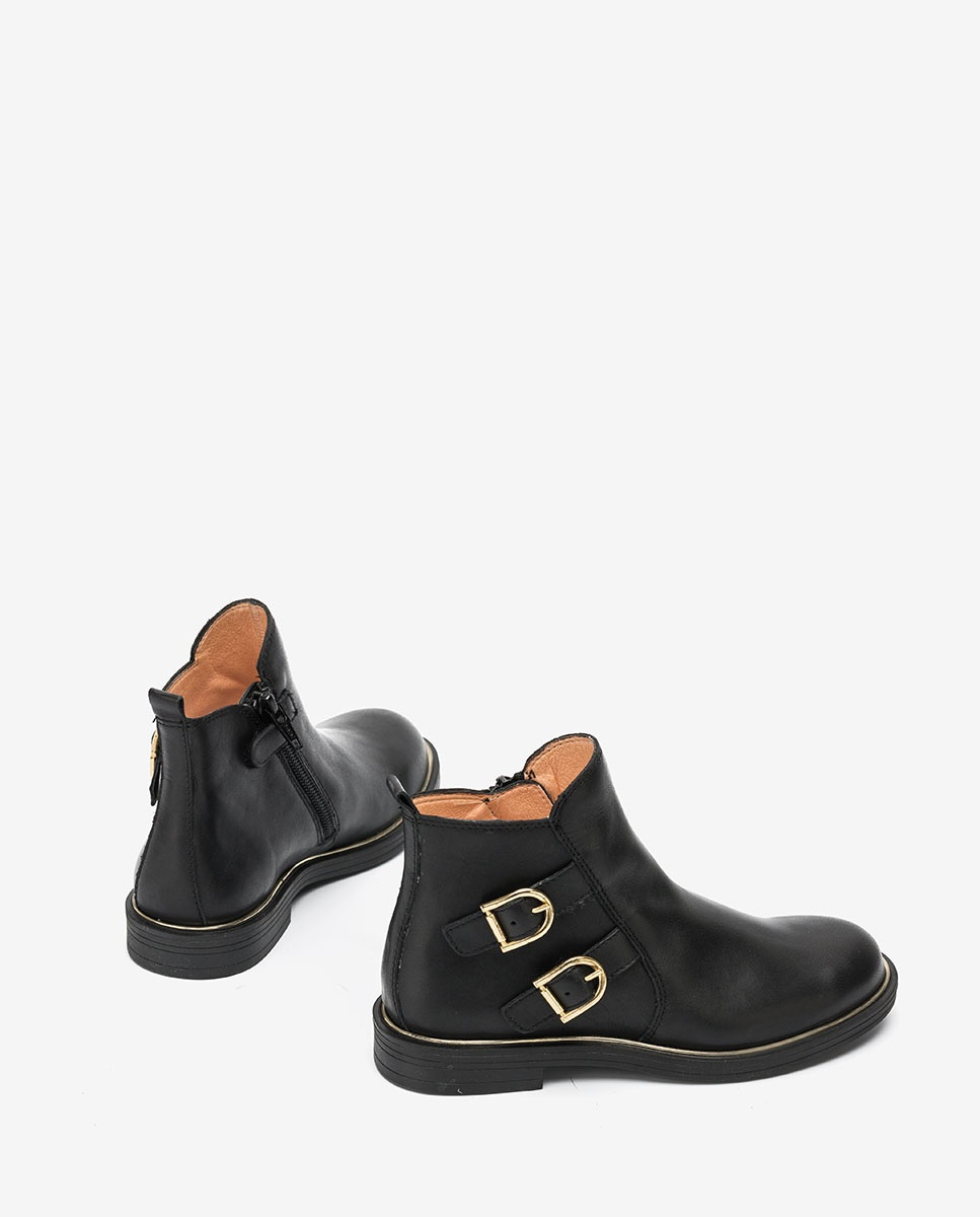 UNISA Little girl´s black ankle boots with buckles OSLIN_F20_CLF black 2