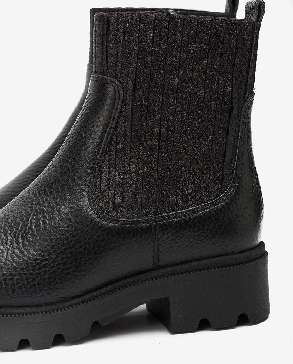 UNISA Little girl´s black booties elastic shaft PINEDA_F20_MM black 2
