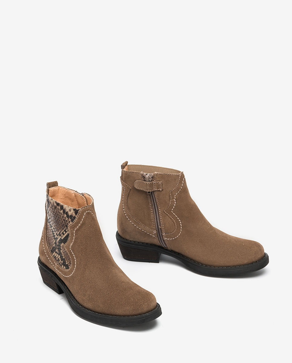 UNISA Little girl´s brown cowboy booties WAFI_F20_BS taupe_19 2