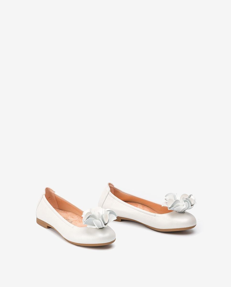 UNISA Flower pearly ballerinas CARMINA_N bone 2