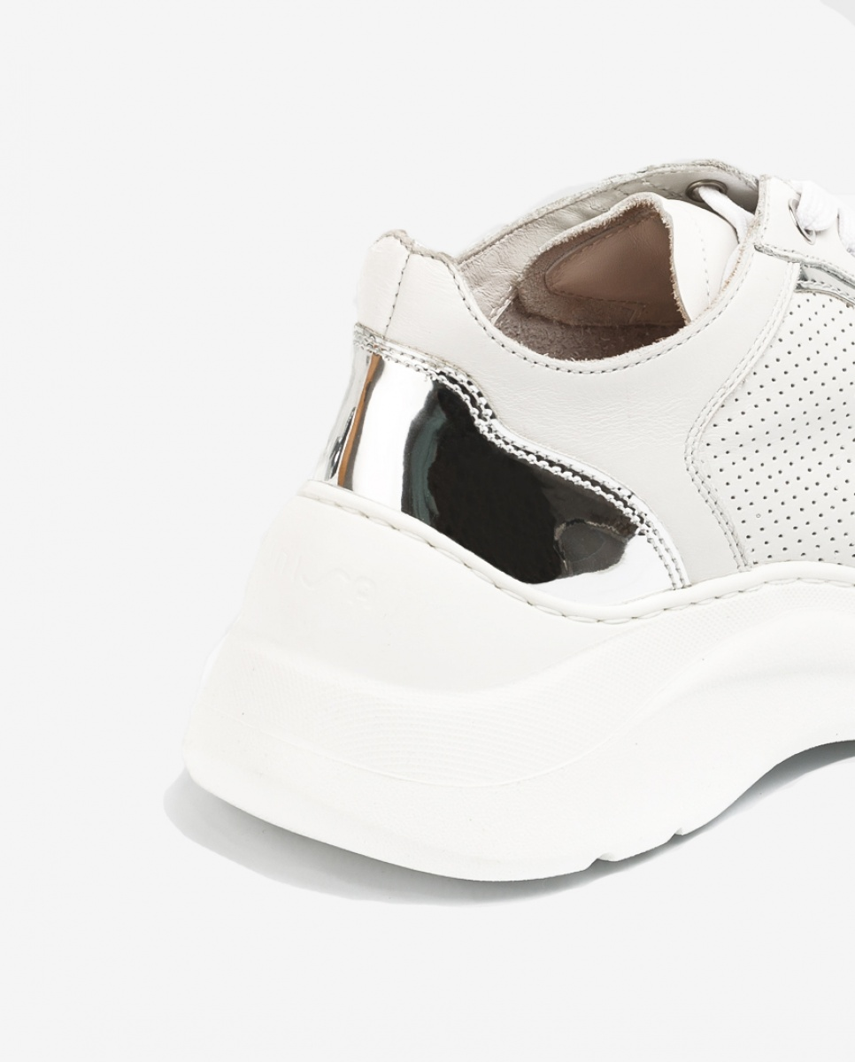 UNISA Leather sneakers volume soles ESTAN_NF ivory 2