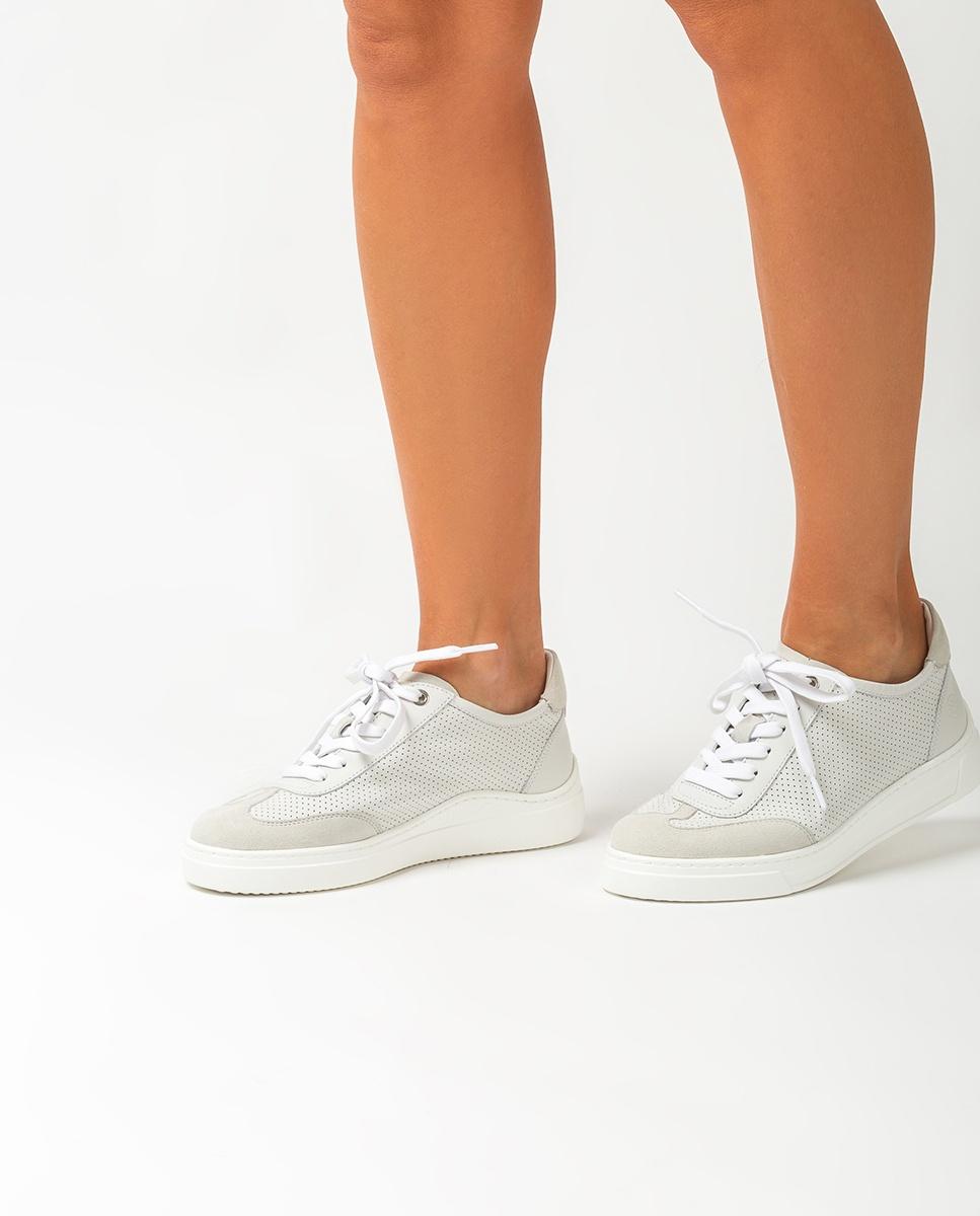 UNISA Perforated leather sneakers FABIO_NF_KS ivory 2