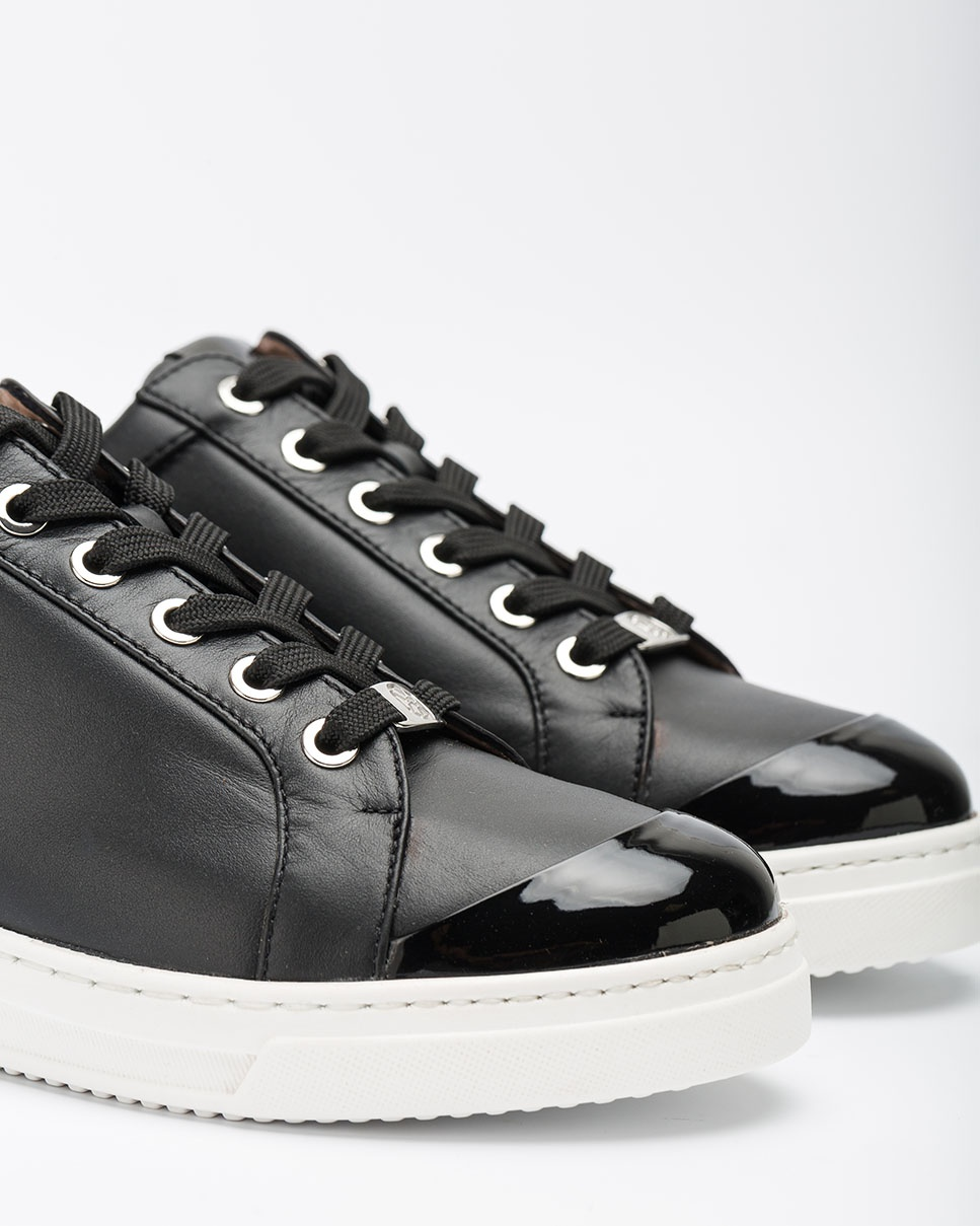 UNISA Contrast leather sneakers FAIFAX_NF_PA black 2