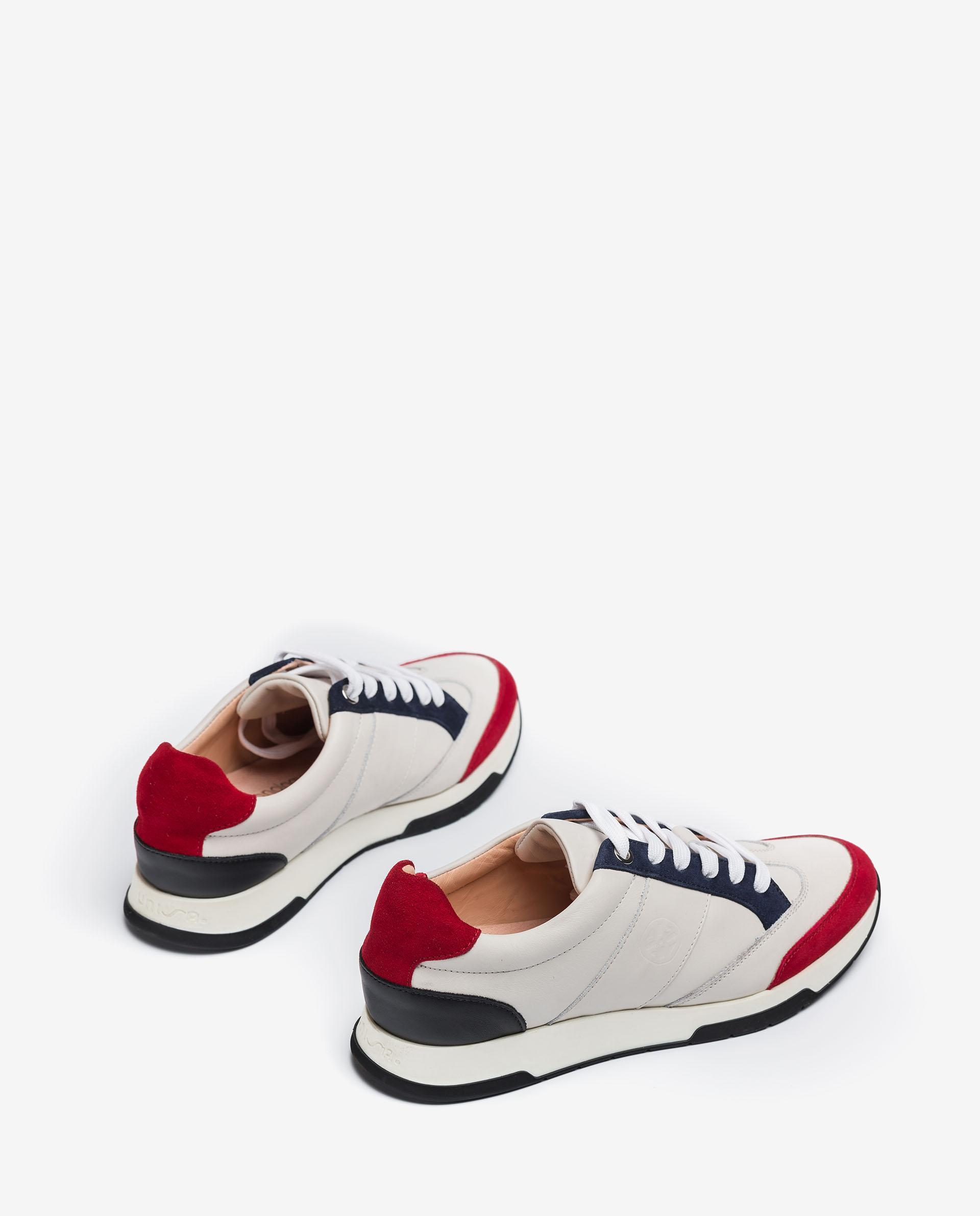 UNISA Monogram leather and kid suede sneakers FALCONI_21_NF_KS 2