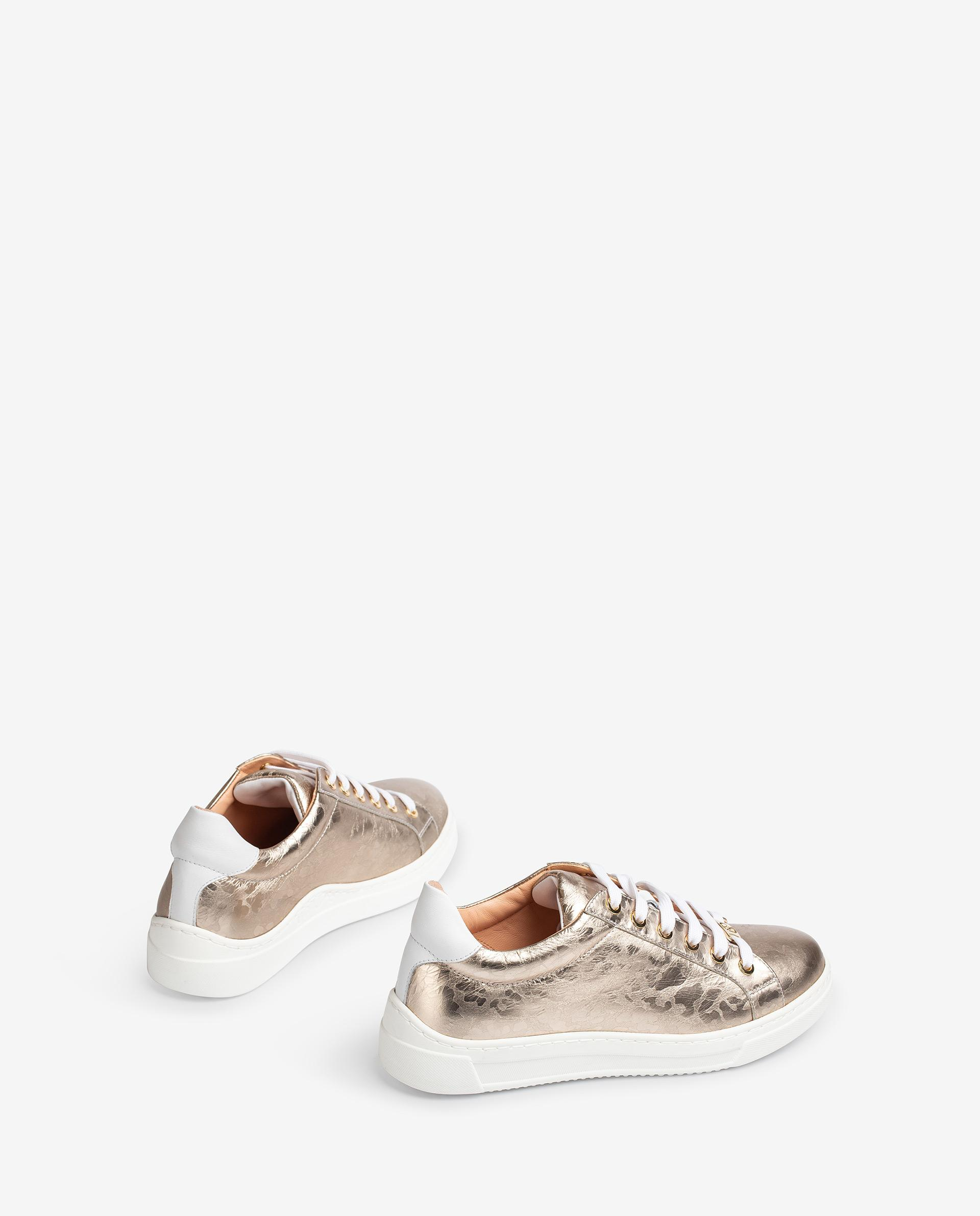 UNISA Contrast shiny effect leather sneakers FASNIA_SVT_NF 2