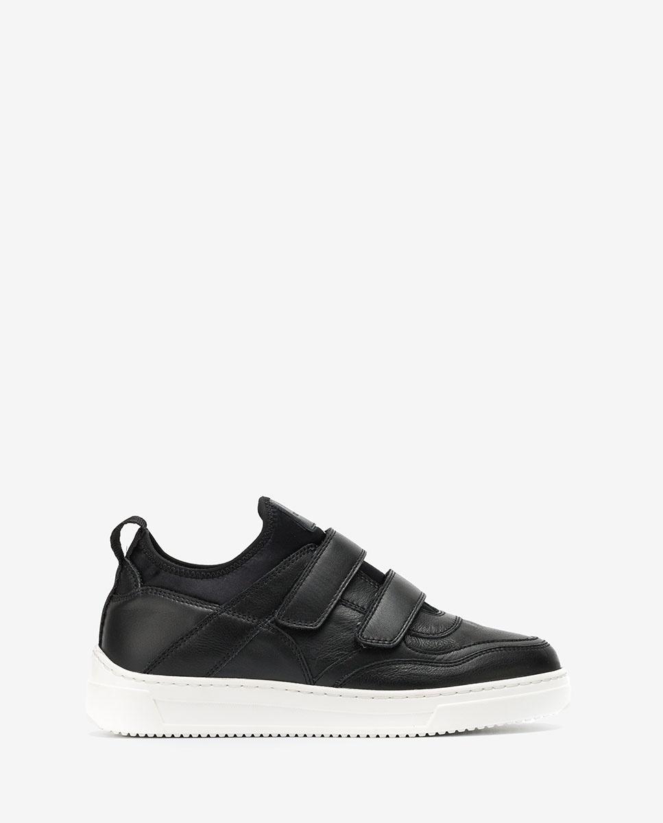UNISA Black croc effect patent leather snkeakers FEDISA_CRE_NF black 2