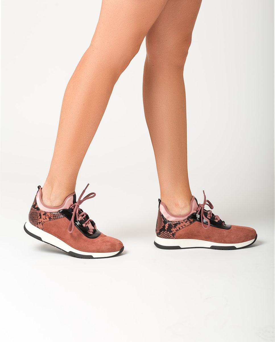 UNISA Sock pink contrast sneakers FONTS_KS_VIP tiffany 2