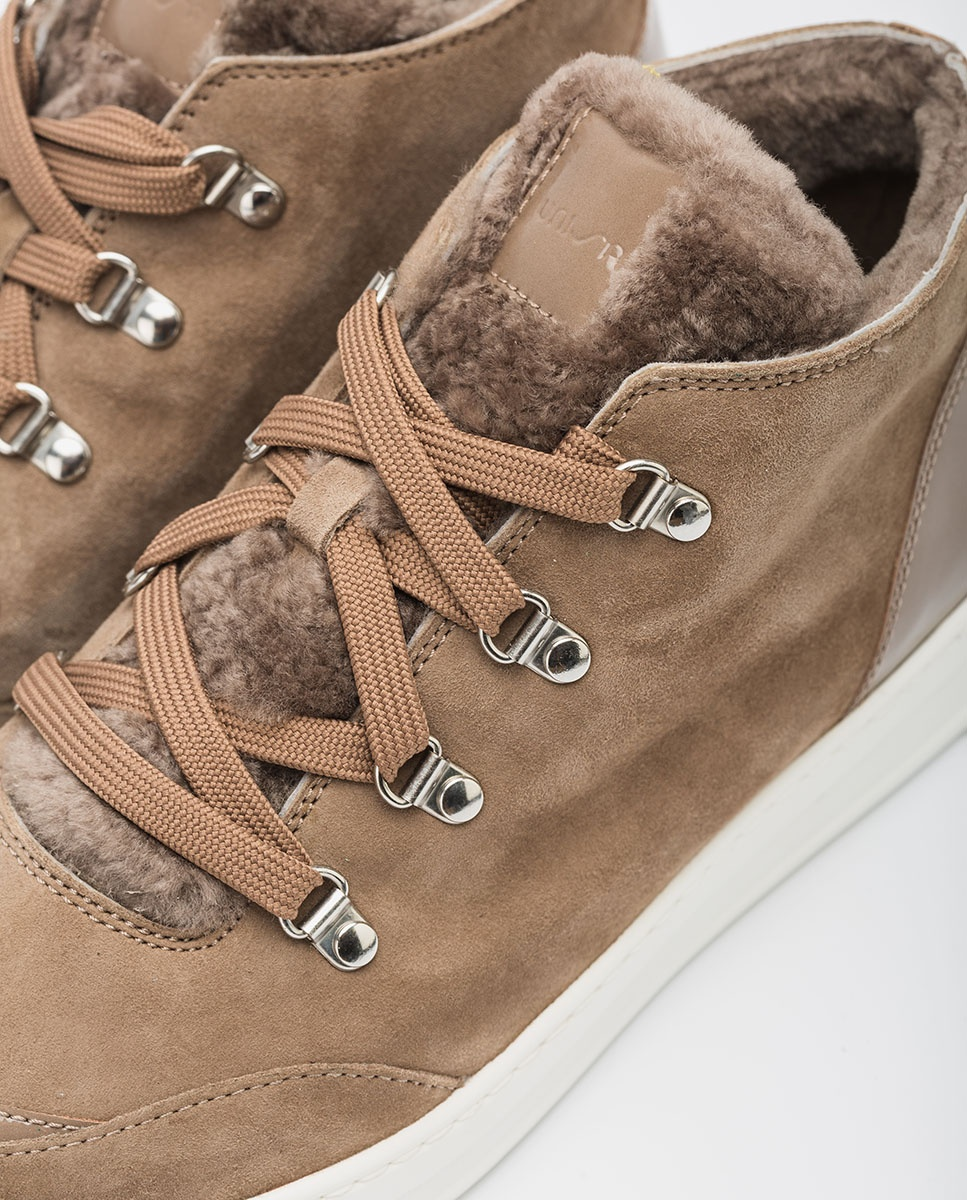 UNISA Kid suede shooties-sneakers FRIUS_KS taupe 2