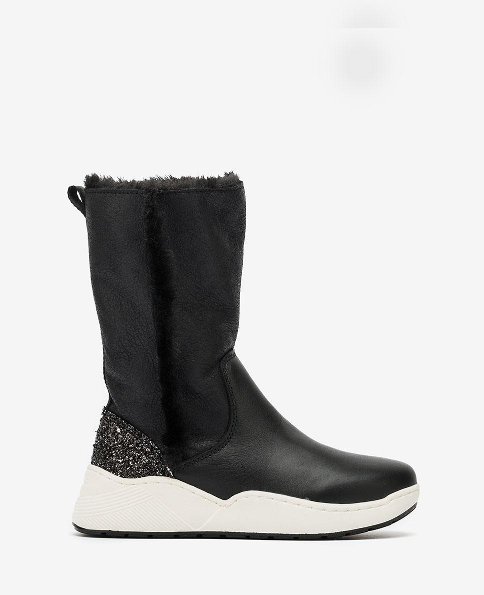 UNISA Contrast little girl boots HUBERT_F20_ESS black 2