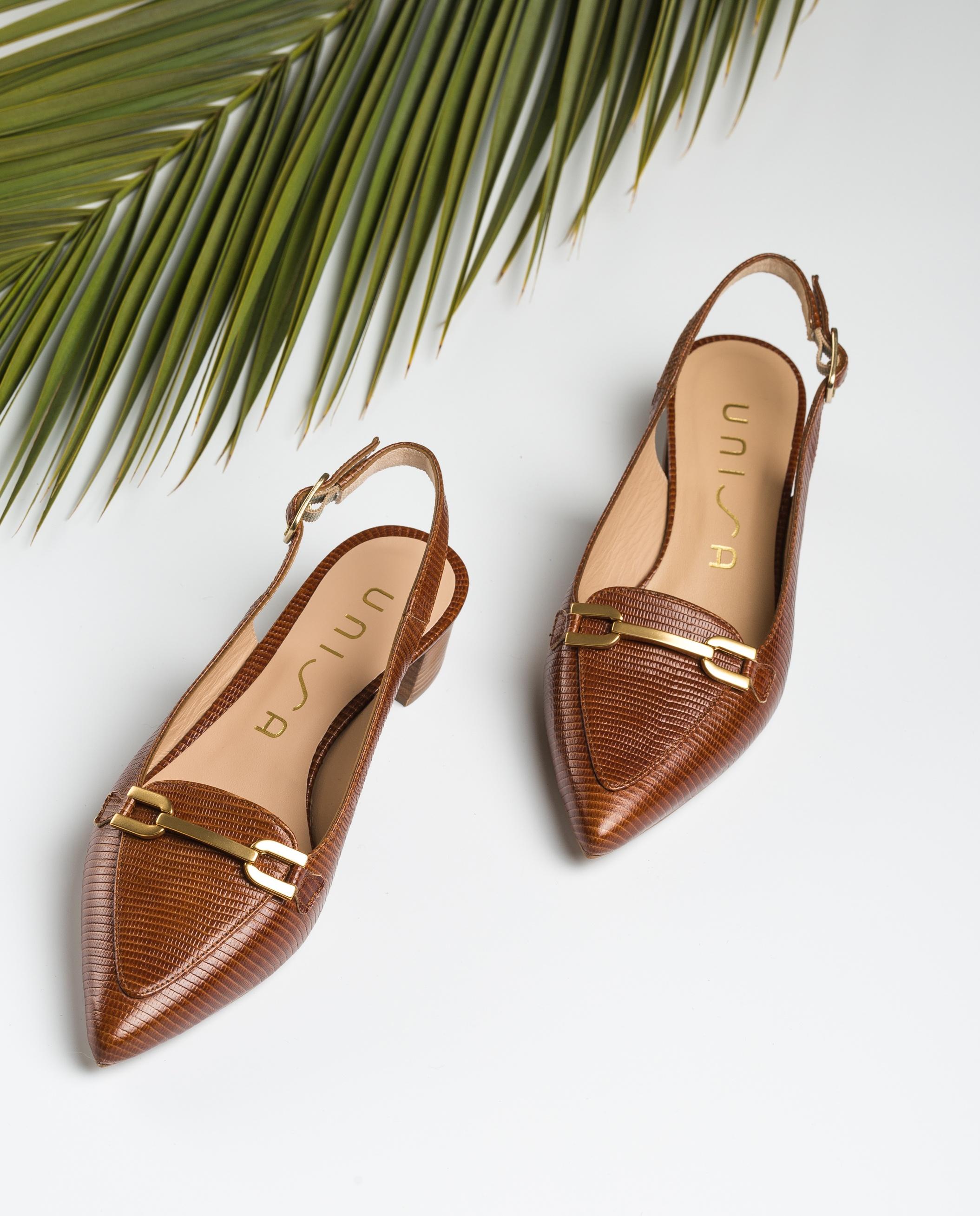 UNISA Heel slingback loafers GISELE_LI cuir 2