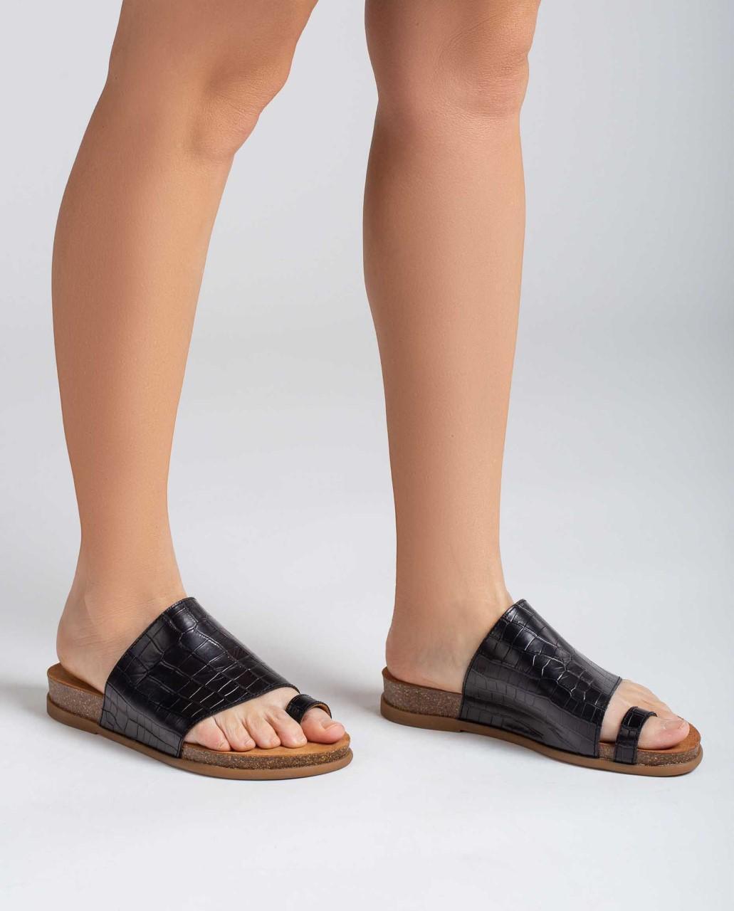 Unisa Toe post sandals CALESIN_21_LAU black