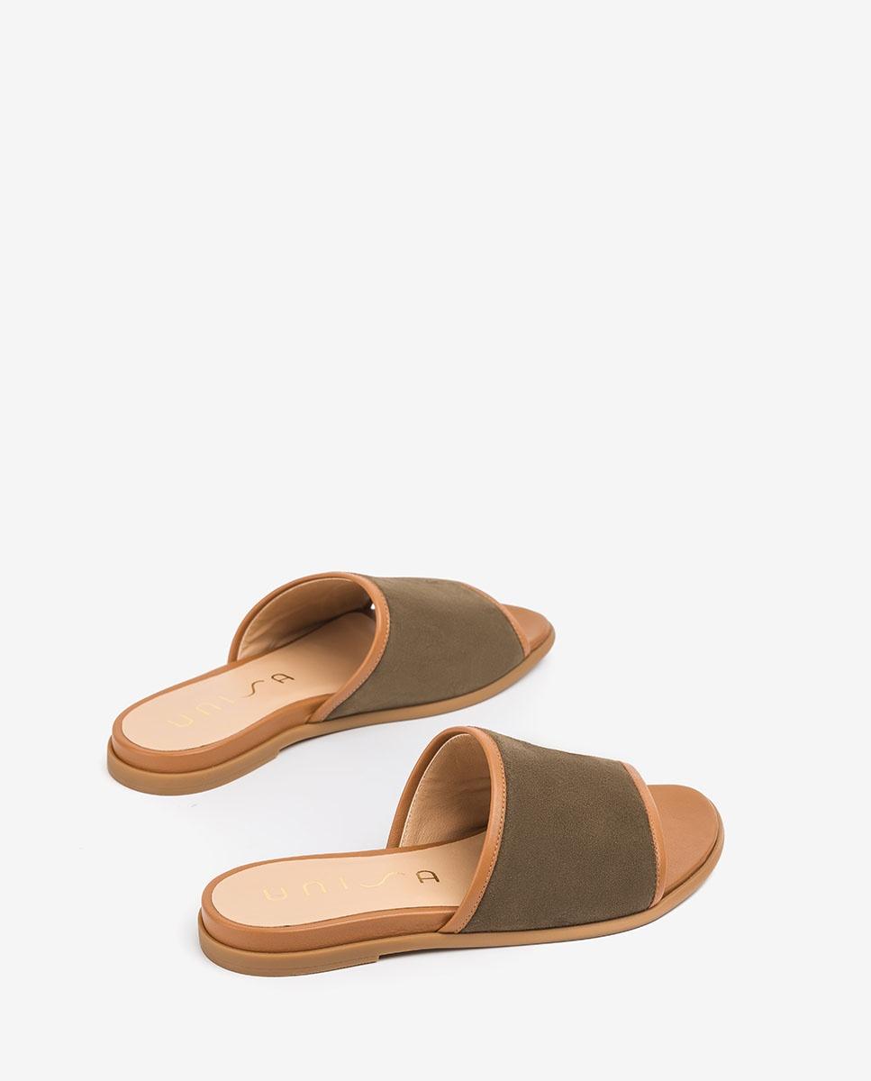 UNISA Flat kid suede thong sandals CANDI_KS_NA salvia/bis 2