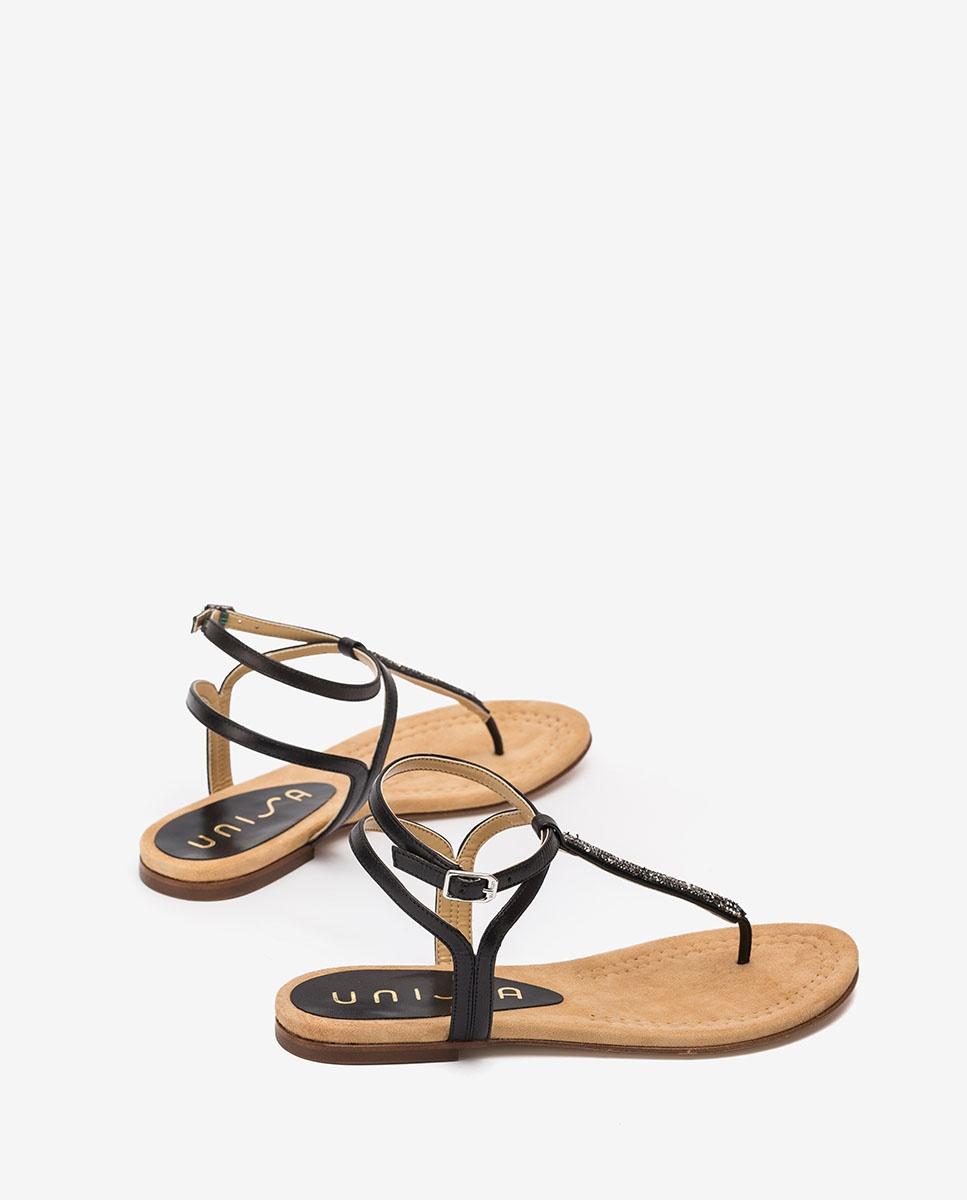 Unisa Toe post sandals CHARLE_20_NA black