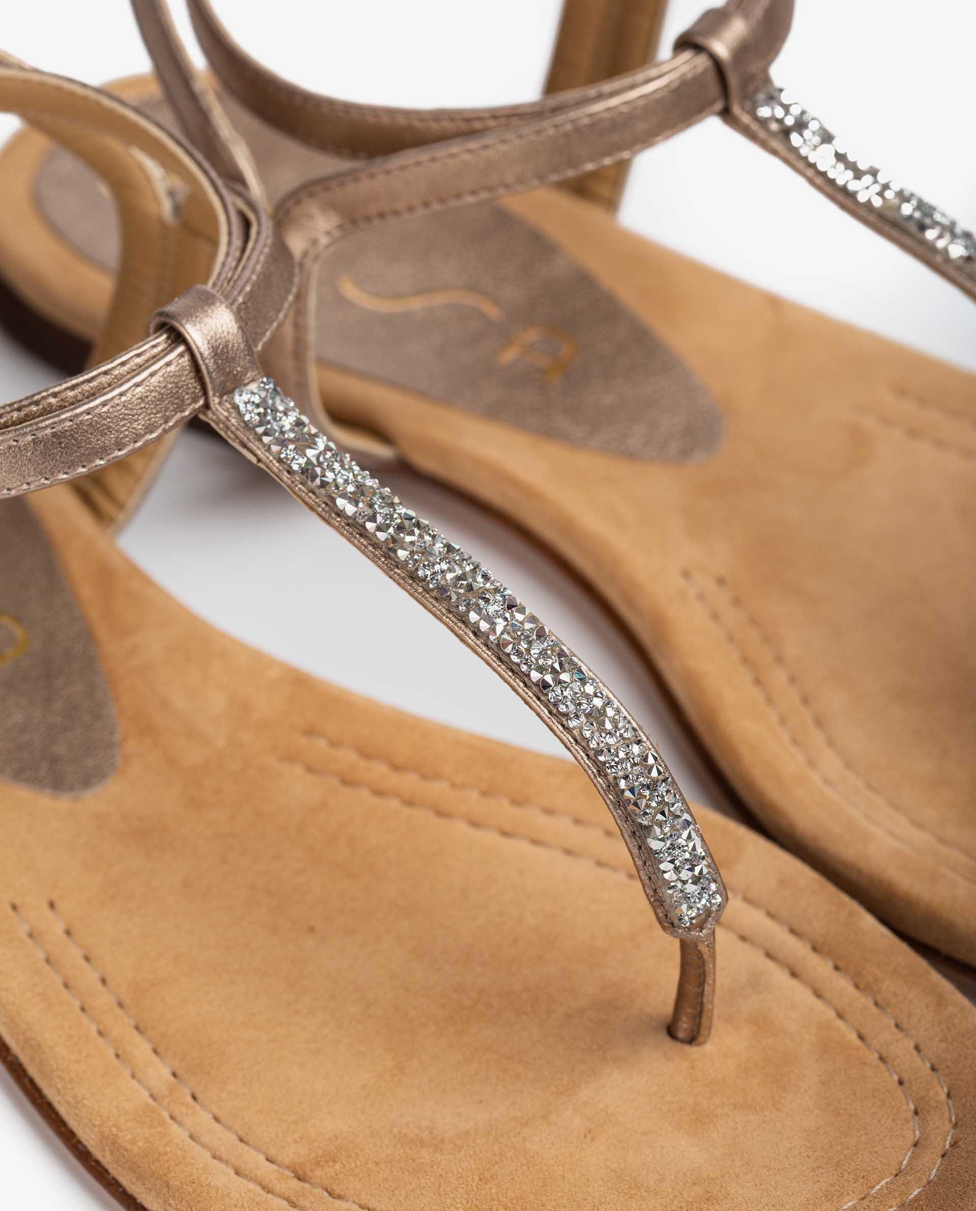 UNISA Flat Swarovski and metal effect thong sandals CHARLE_21_LMT 2