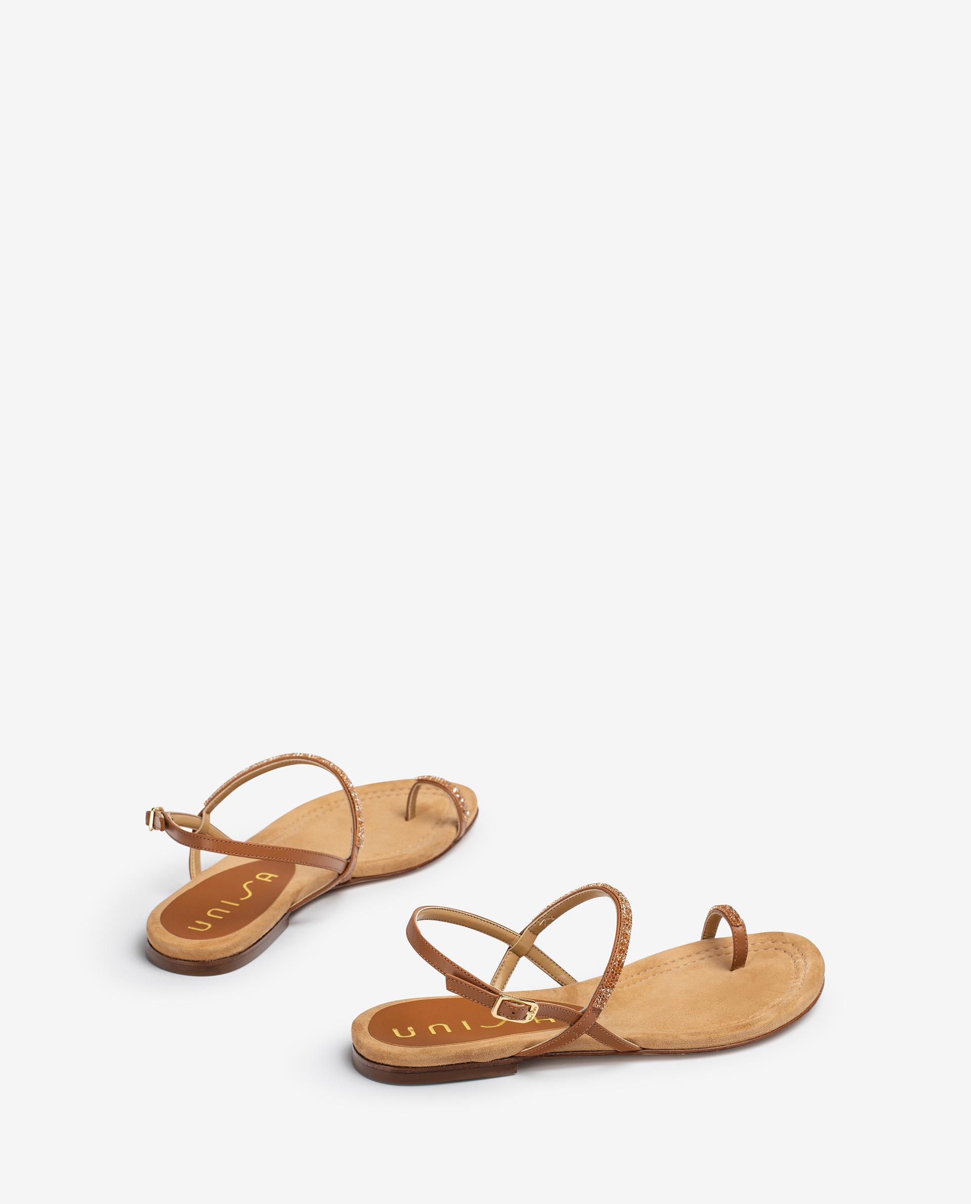 UNISA Leather thong sandals with Swarovski CRUISE_21_NA 2