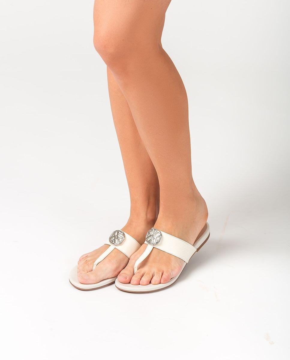 UNISA Flat monogram thong sandals CUCHI_LI_NA ivory 2