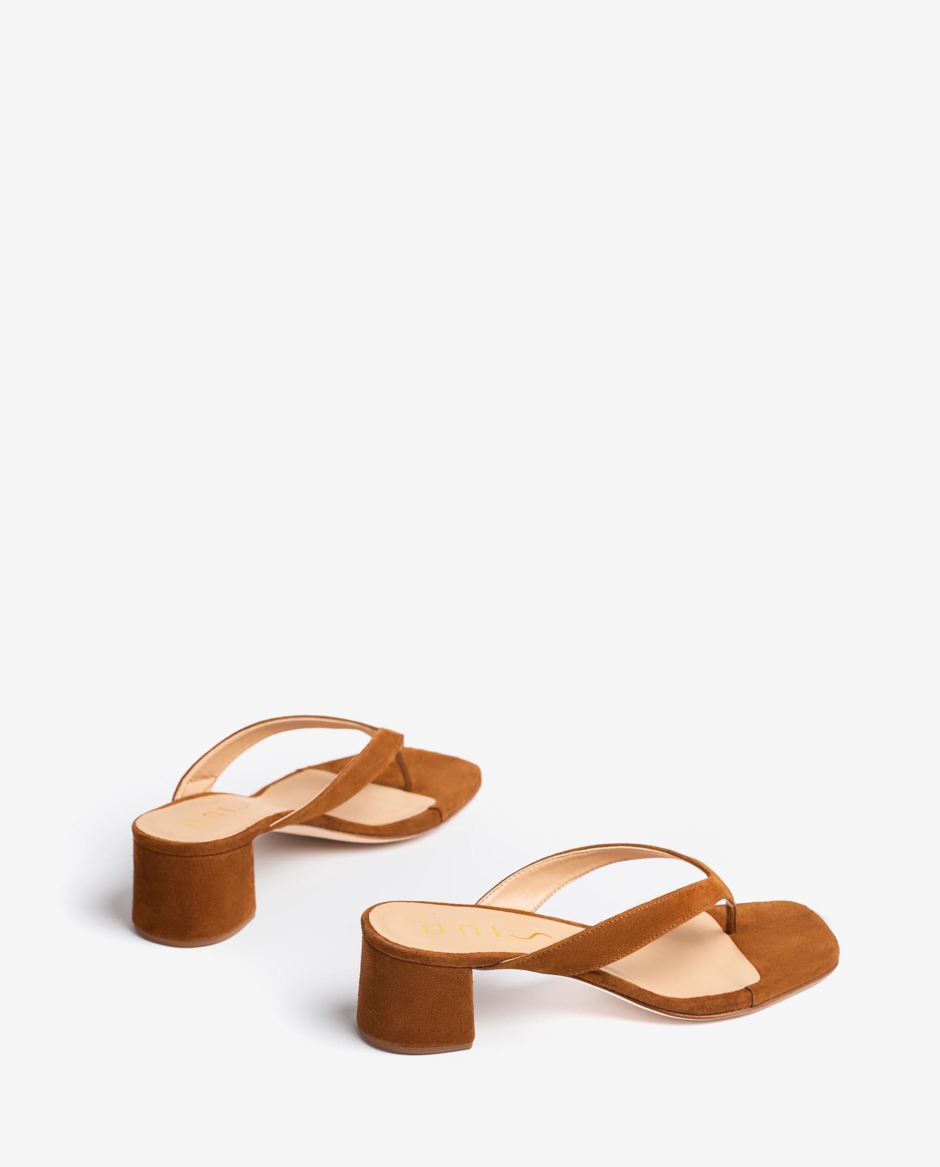UNISA Kid suede thong sandals with square toe KOLMA_21_KS 2