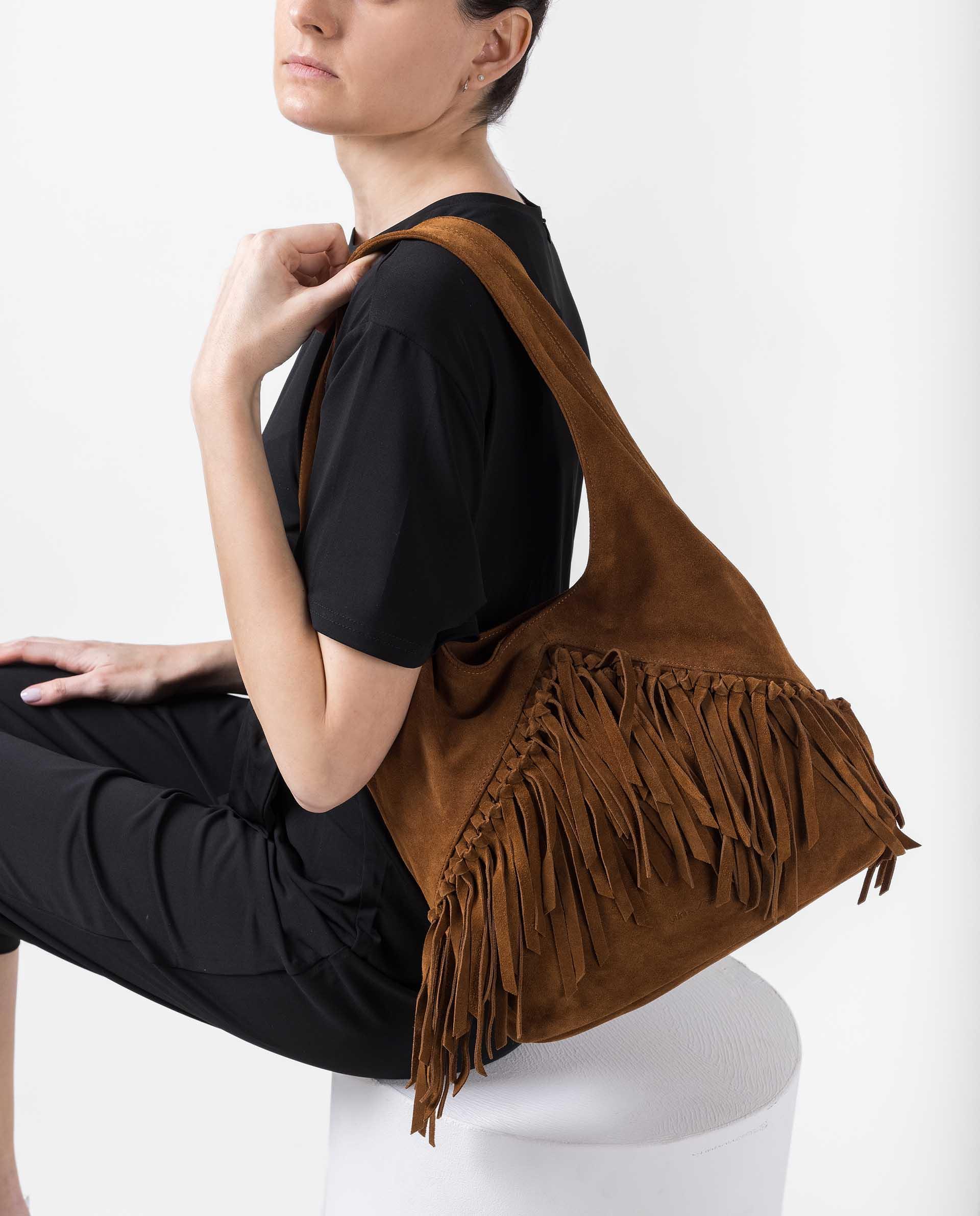 UNISA Shopper bag with fringes ZISAURA_BS 2