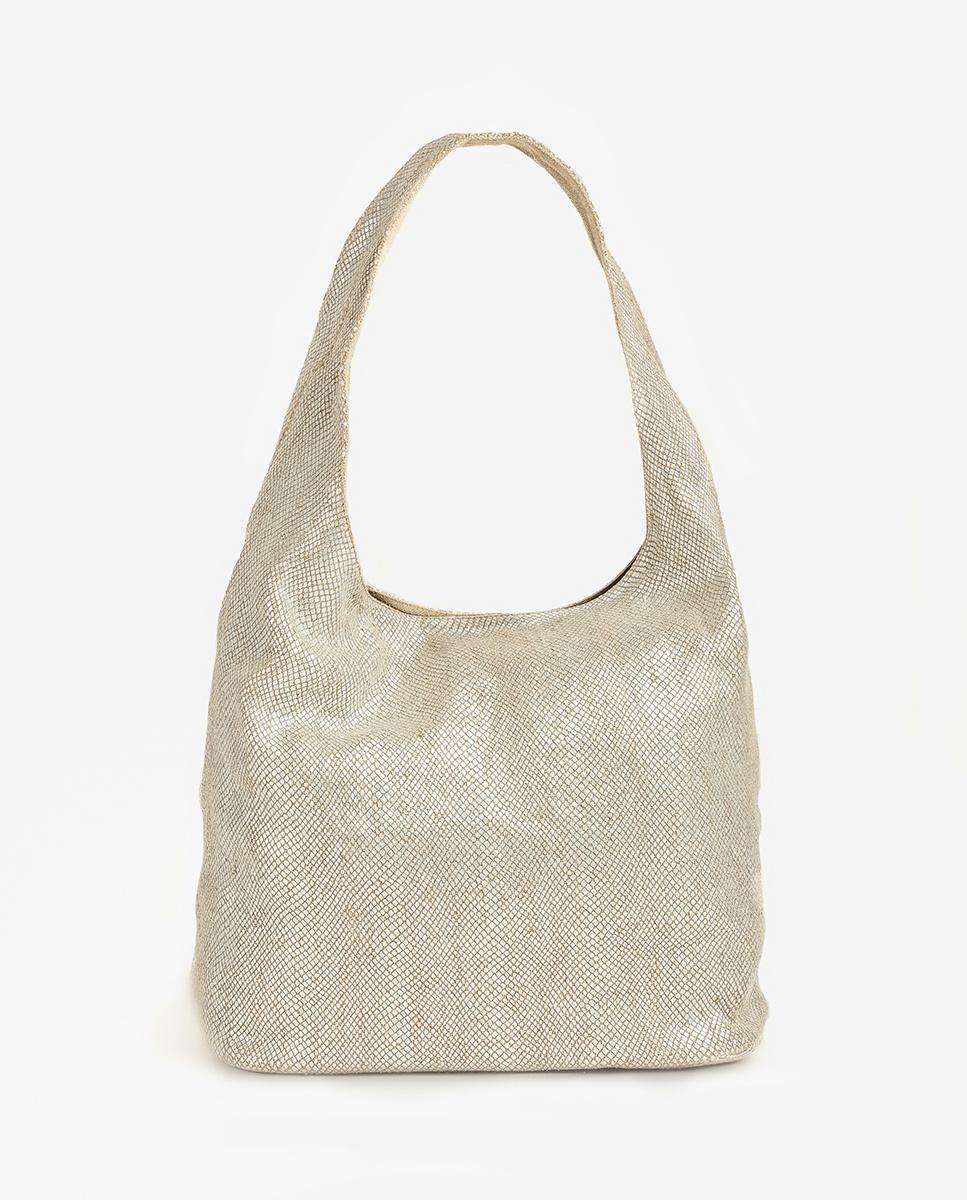 UNISA Silver linen bag ZISLOTE_20_RL silver 2
