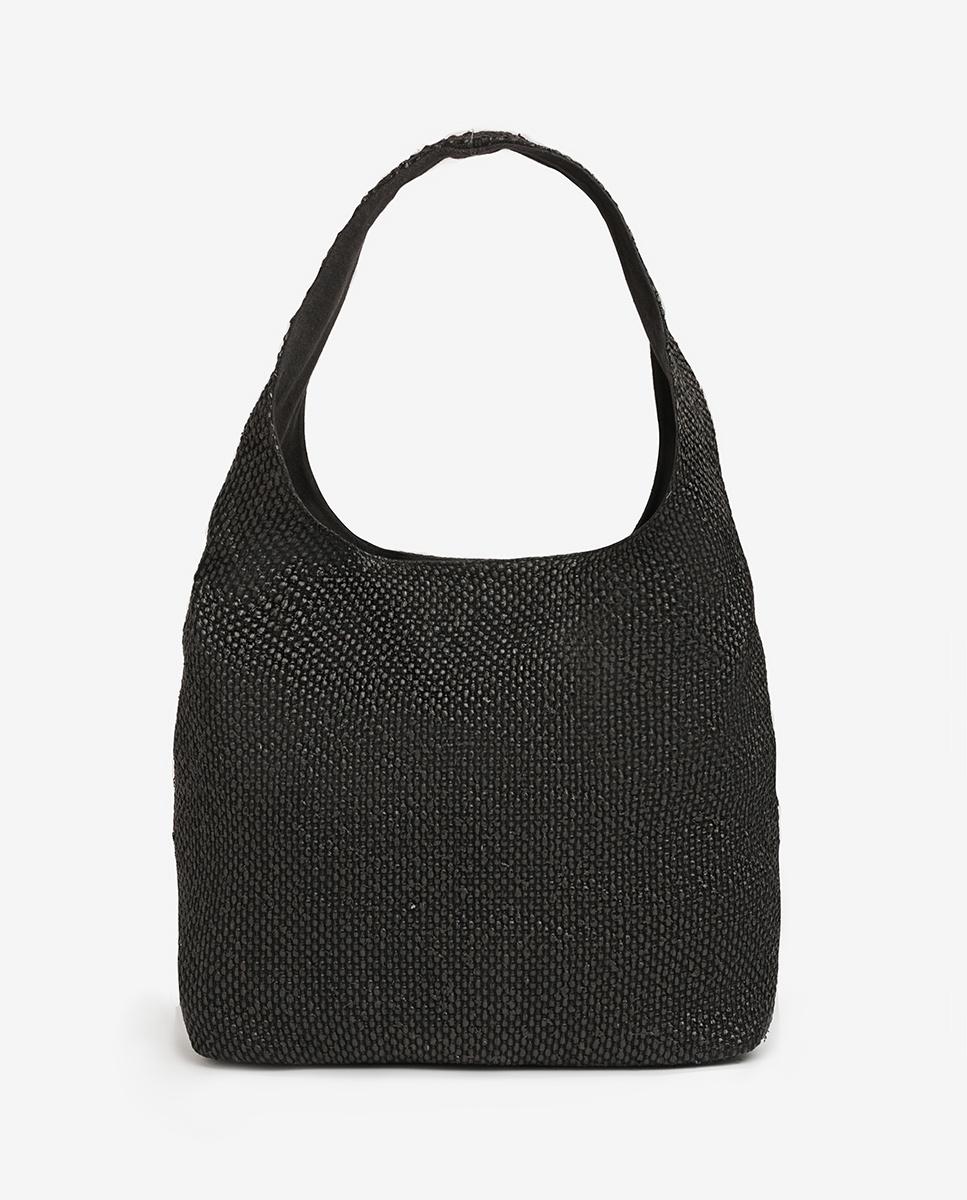UNISA Raffia hobo handbag ZISLOTE_20_ROP black 2