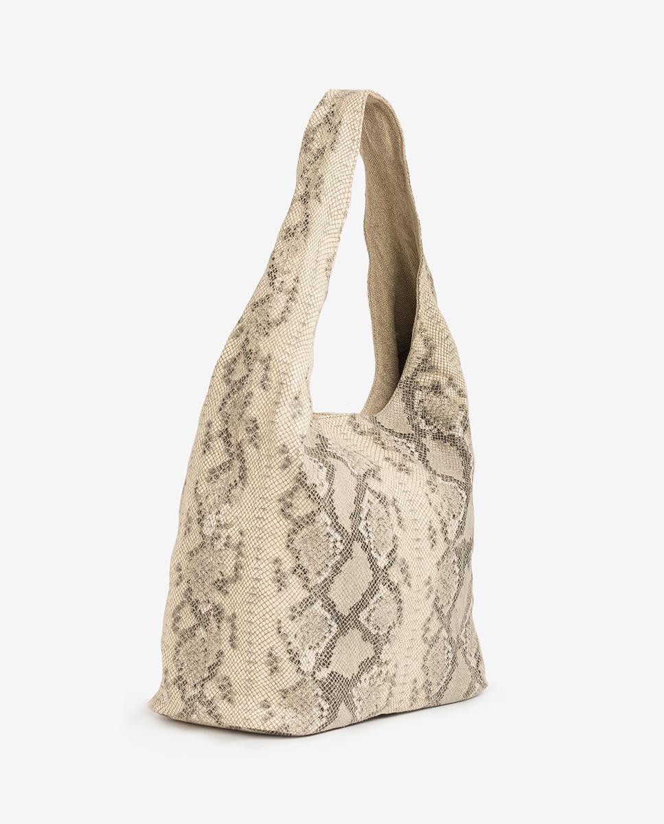 UNISA Snake linen bag ZISLOTE_20_VLI natural 2