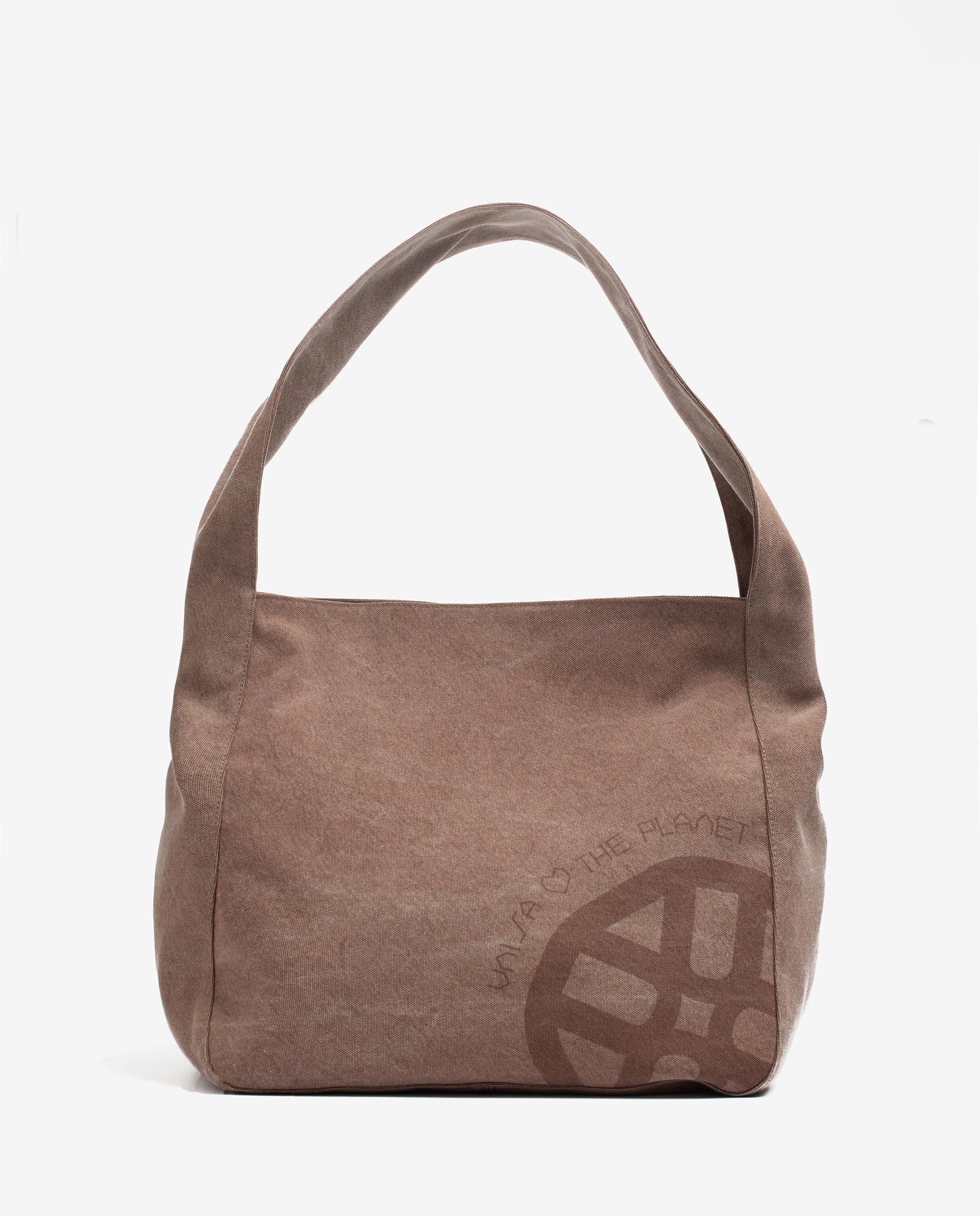 UNISA EcoLino hobo bag with monogram detail ZMINTAECO_ECL 2