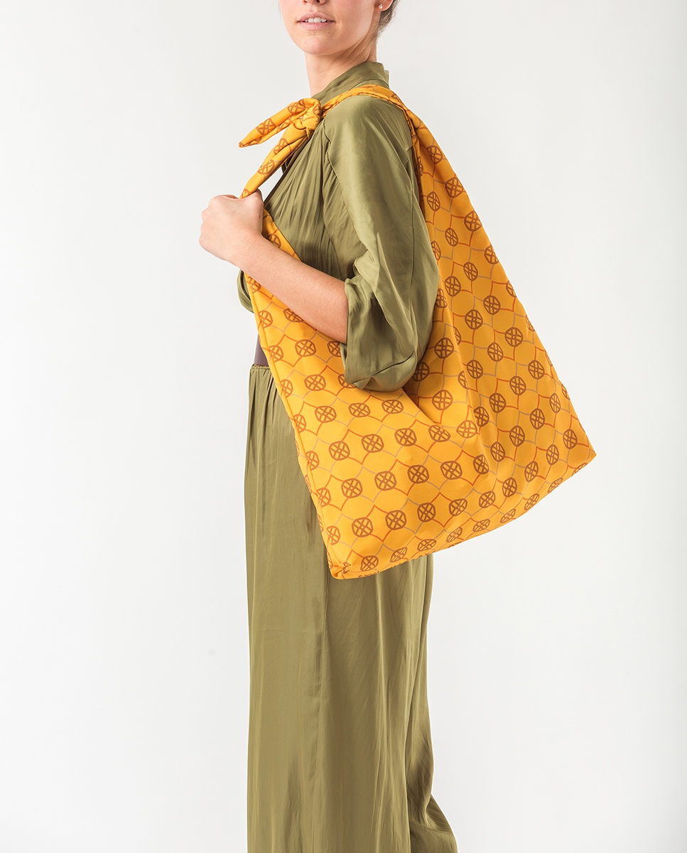 UNISA Monogram fabric hobo bag ZWENDY_FOU mustard 2