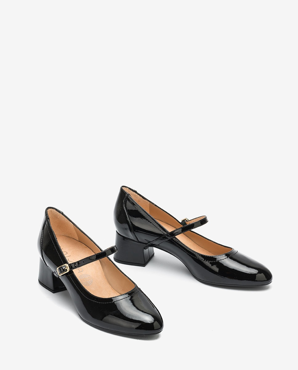 UNISA Black patent leather Mary Jane shoes LEAN_PA black 2