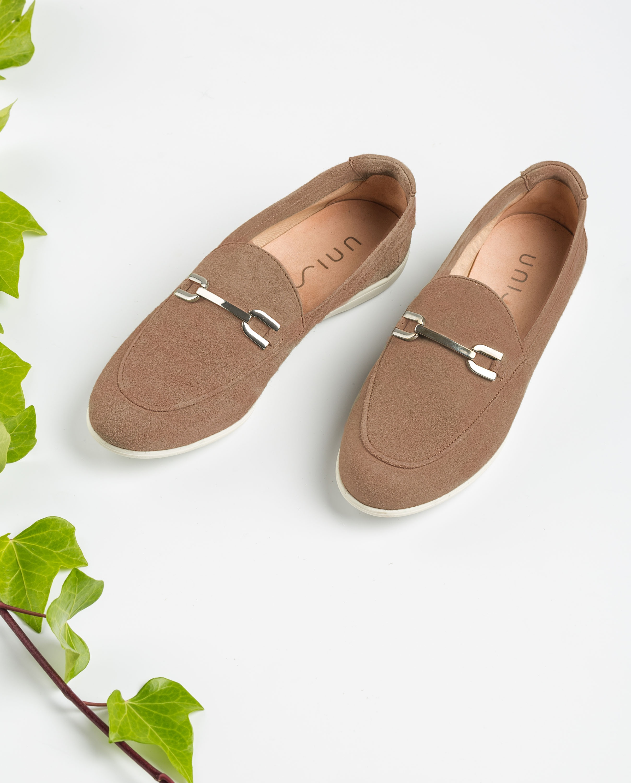 UNISA Kid suede loafers rubber sole AMAR_KS funghi 2