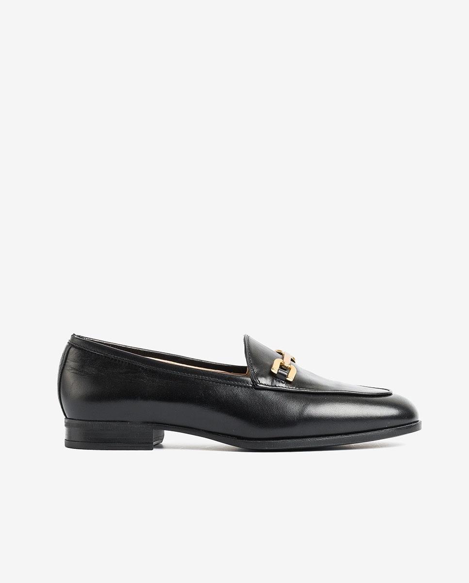 UNISA Black leather loafers DAIMIEL_F20_NA black 2