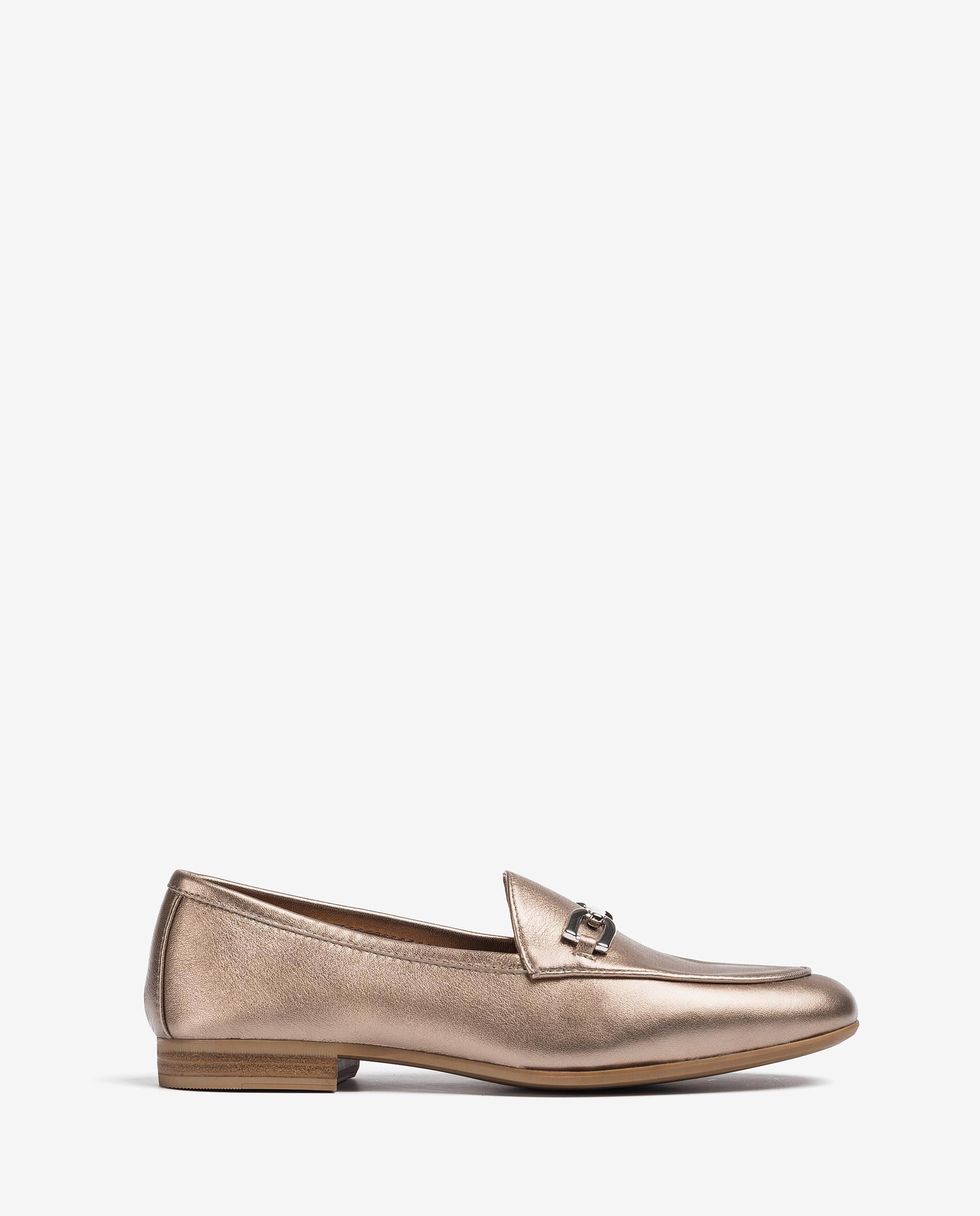 UNISA Metal effect leather loafers DALCY_21_LMT 2