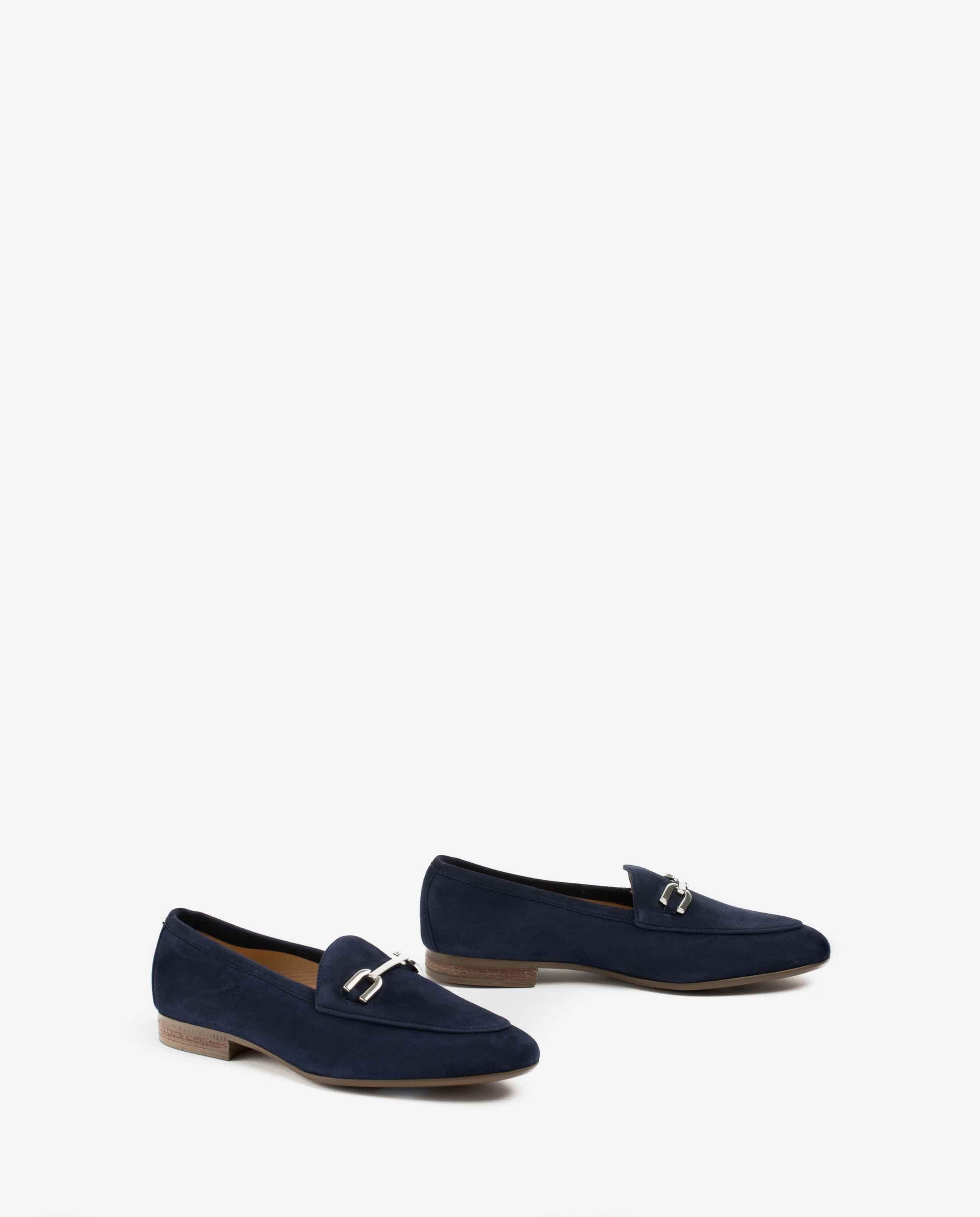 UNISA Kid suede loafers DALCY_KS ocean 2