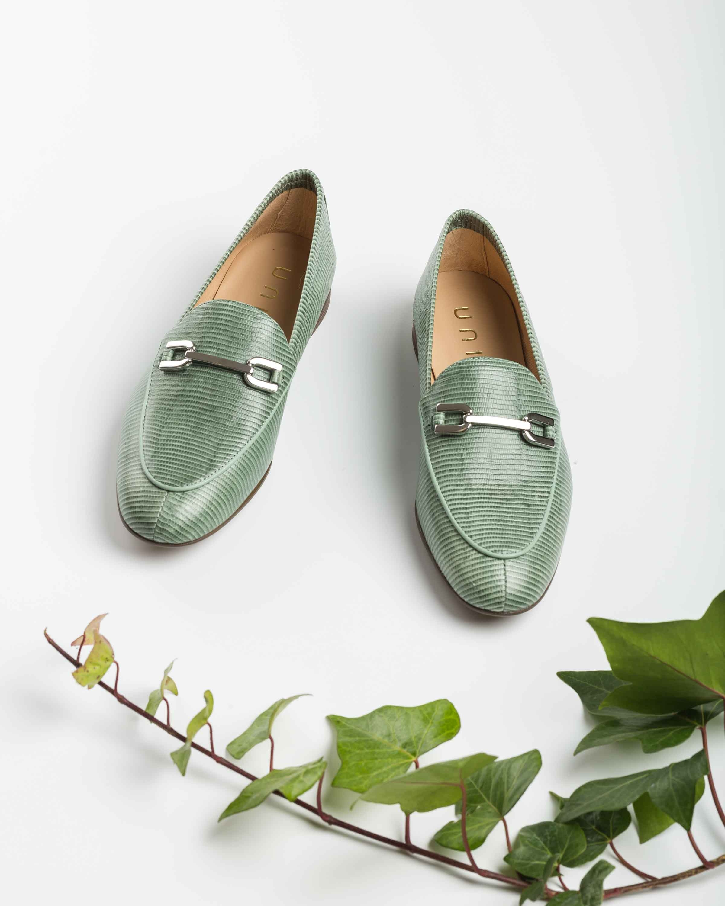 UNISA Engraved leather loafers DALCY_LI mint 2
