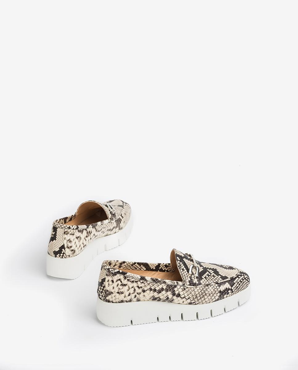 UNISA Snake loafers with platform FAMO_VIP nacar 2