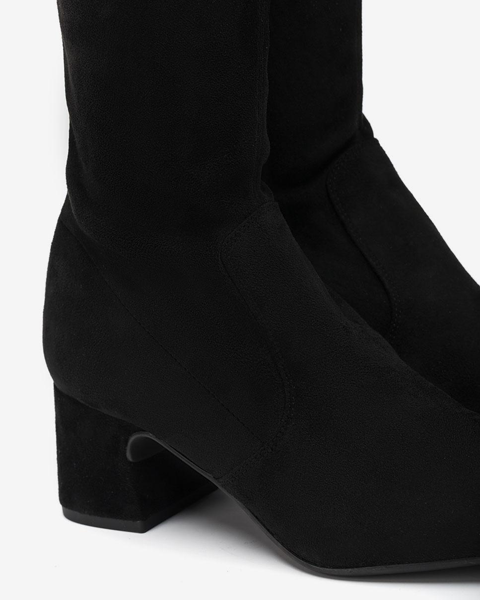UNISA Black elastic musketeer boots MUJICA_ST black 2
