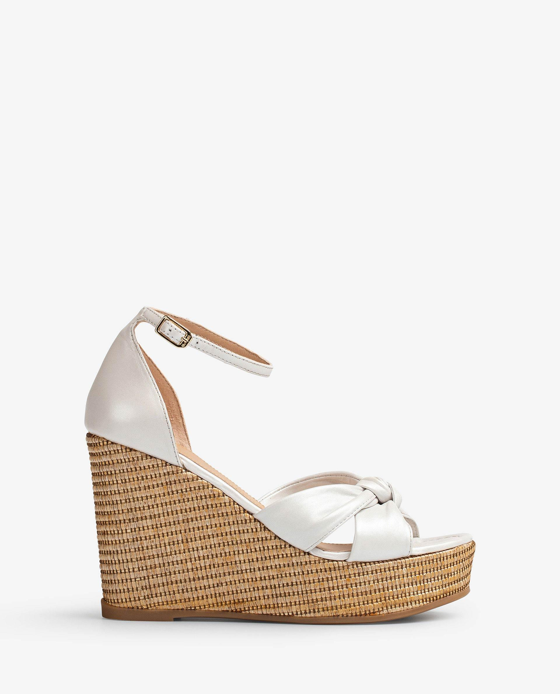 UNISA Leather sandals with instep bow MACEDA_NA_N 2