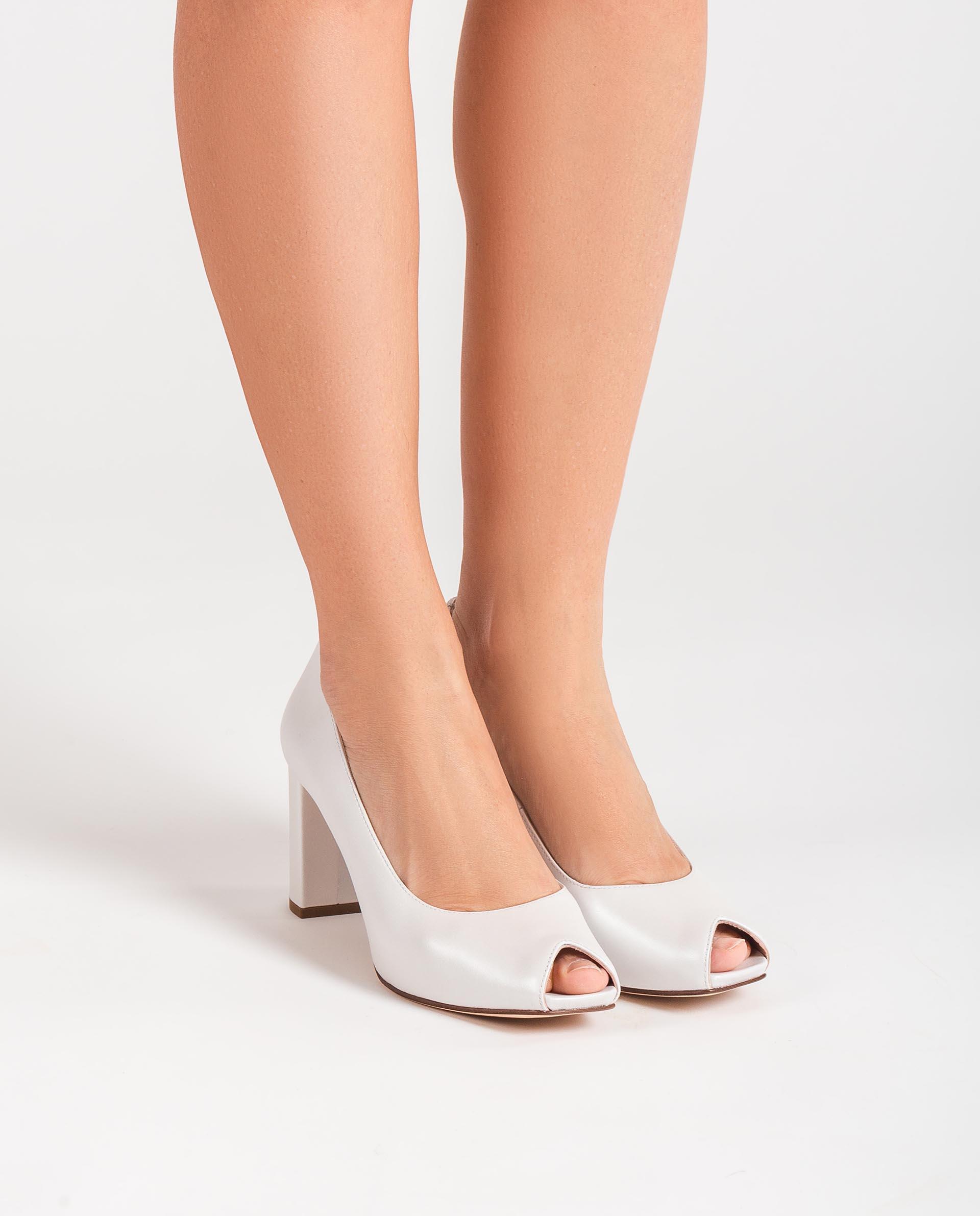 UNISA Bridal high heel leather peep toe shoes NAJIBE_NA_N 2