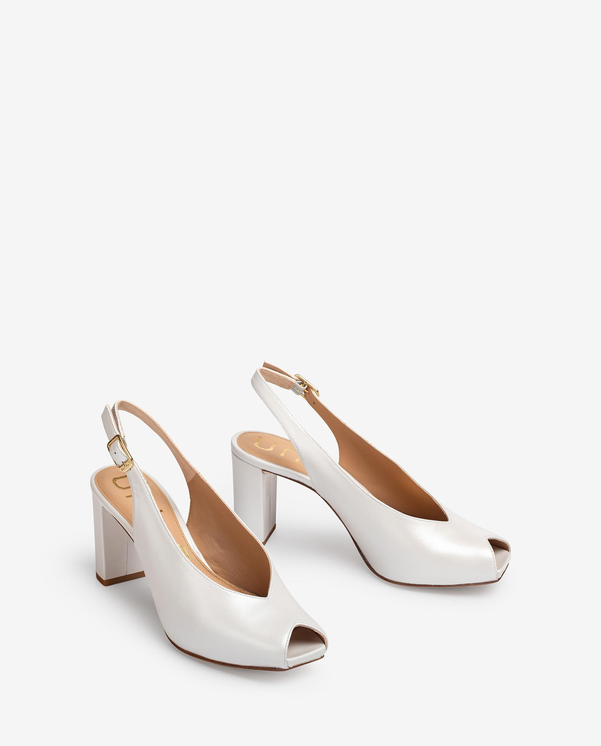 UNISA Leather bridal slingback peep toe shoes NAPLES_NA_N 2