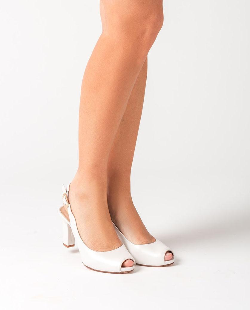 UNISA Bride peep-toe slingbacks NICKA_CLASS_20_NA_N bone 2