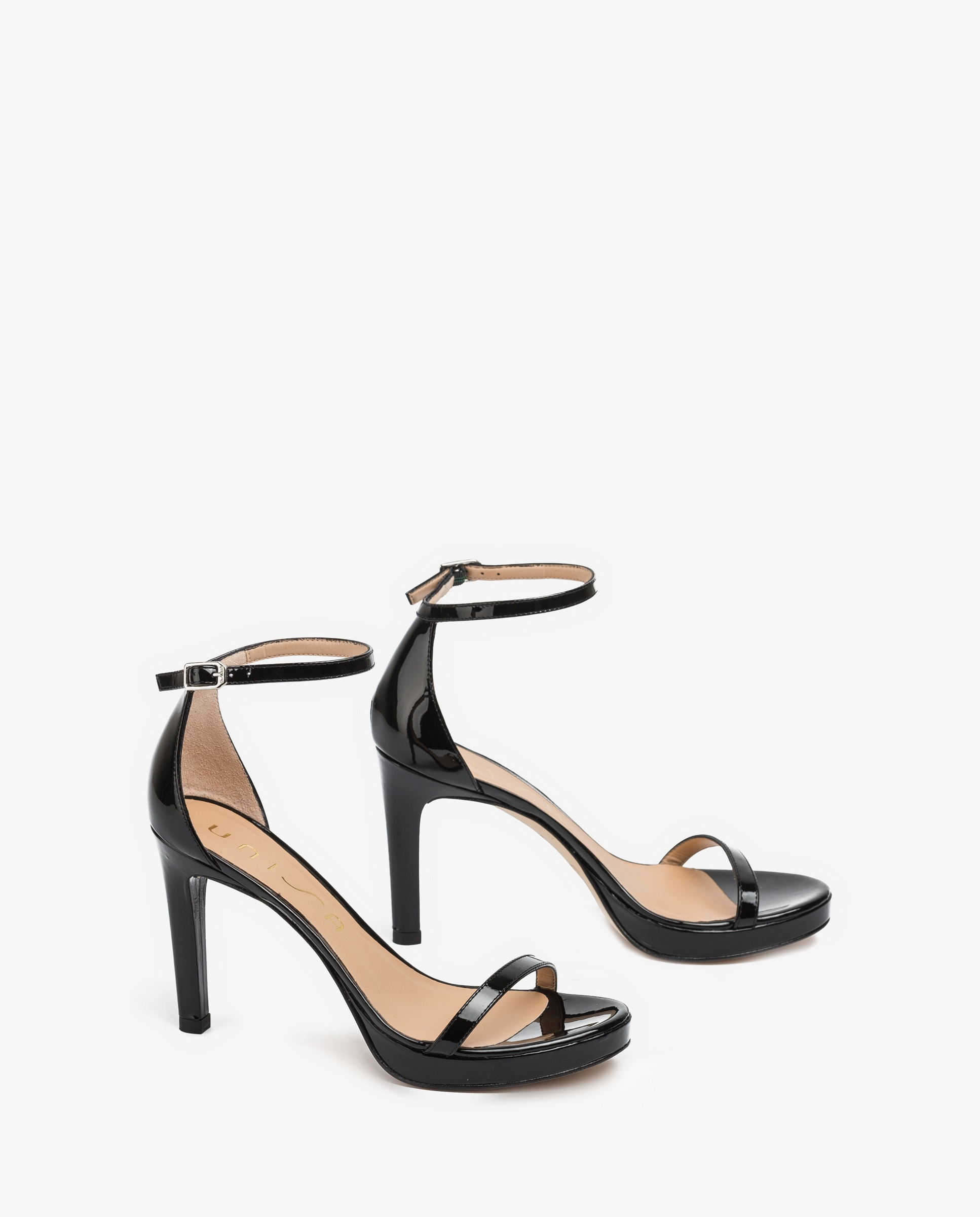 UNISA Patent leather sandals ankle strap VERONIC_PA black 2
