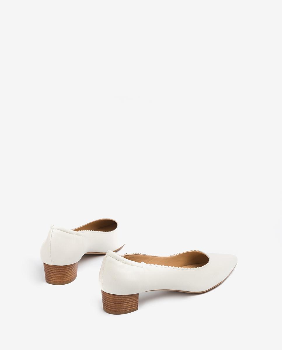 UNISA Leather pumps pointy toe GUNKER_VU ivory 2
