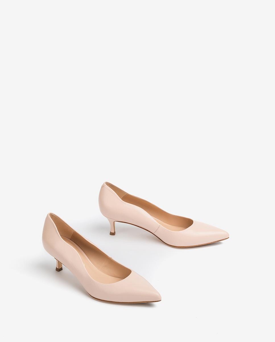 UNISA Light pink leather heel pumps IDONE_NA pale 2