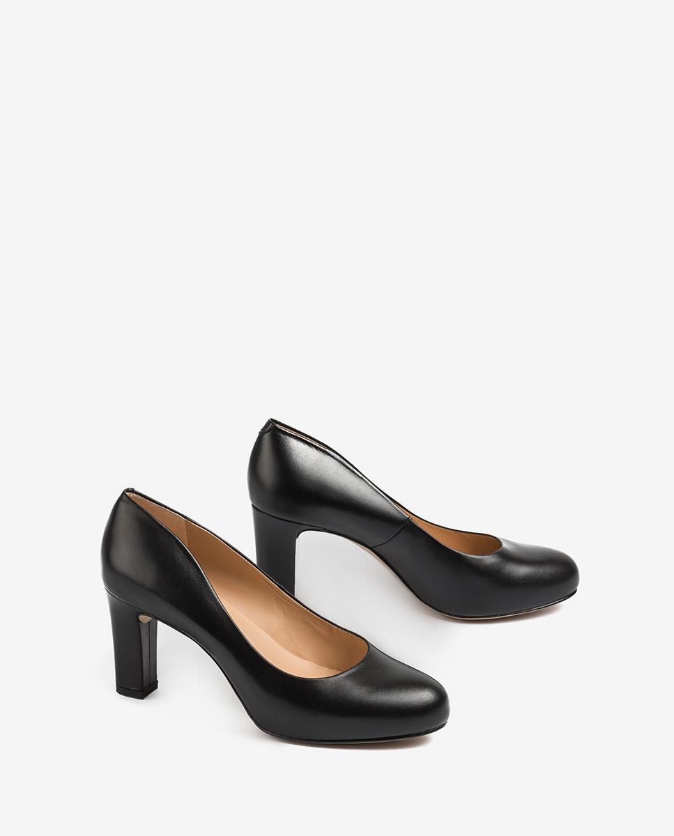 UNISA Women´s leather heel pumps NUMIS_20_NA black 2