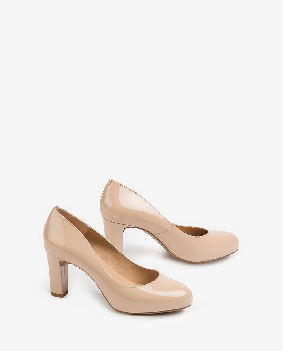 UNISA Women´s patent leather heel pumps NUMIS_20_PA nude 2