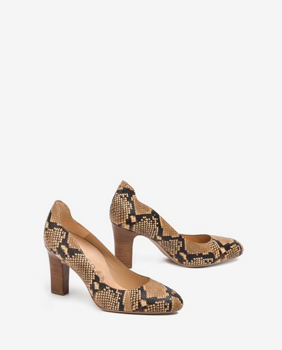 UNISA Snake effect leather pumps ULISA_VIP ginger 2