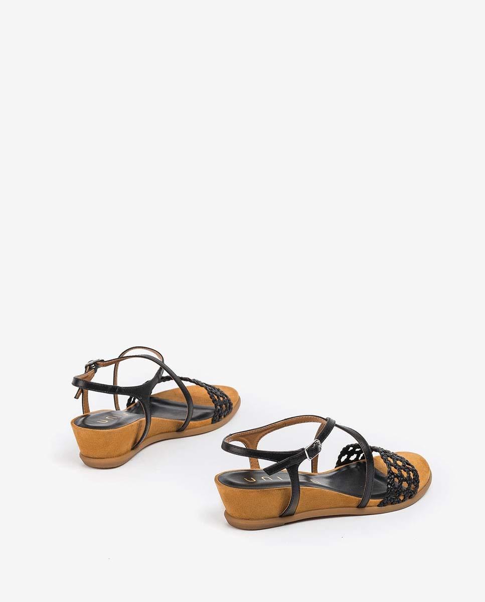 UNISA Wedge macramé sandals BENSON_NA black 2