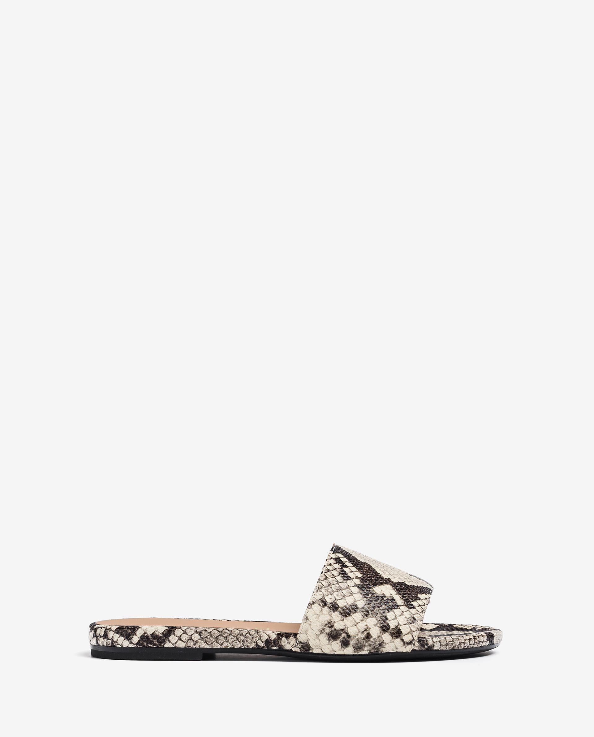 UNISA Flat snake effect leather thong sandals CADIARSIN_VIP 2