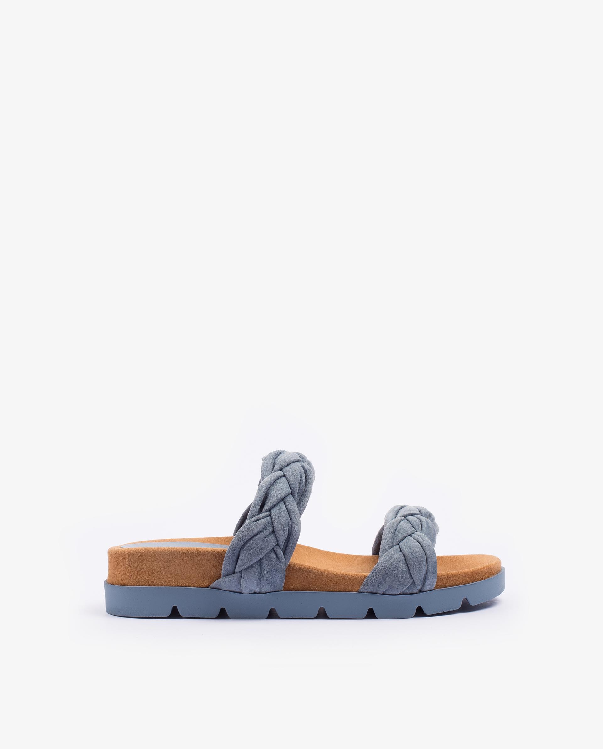 UNISA Flat kid suede sandals with braided straps CAIRO_KS 2